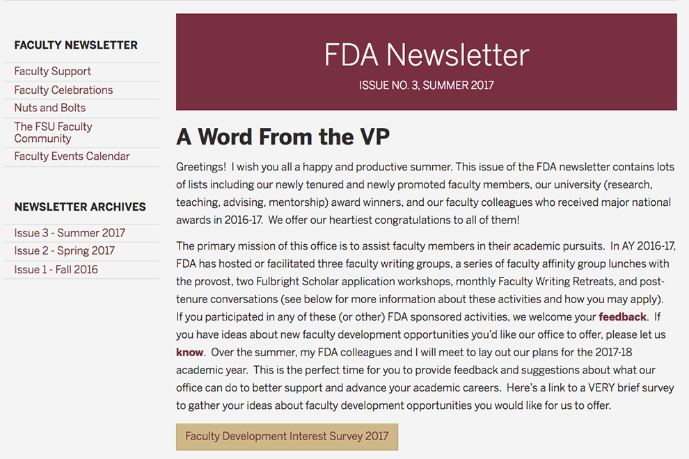 FDA Newsletter