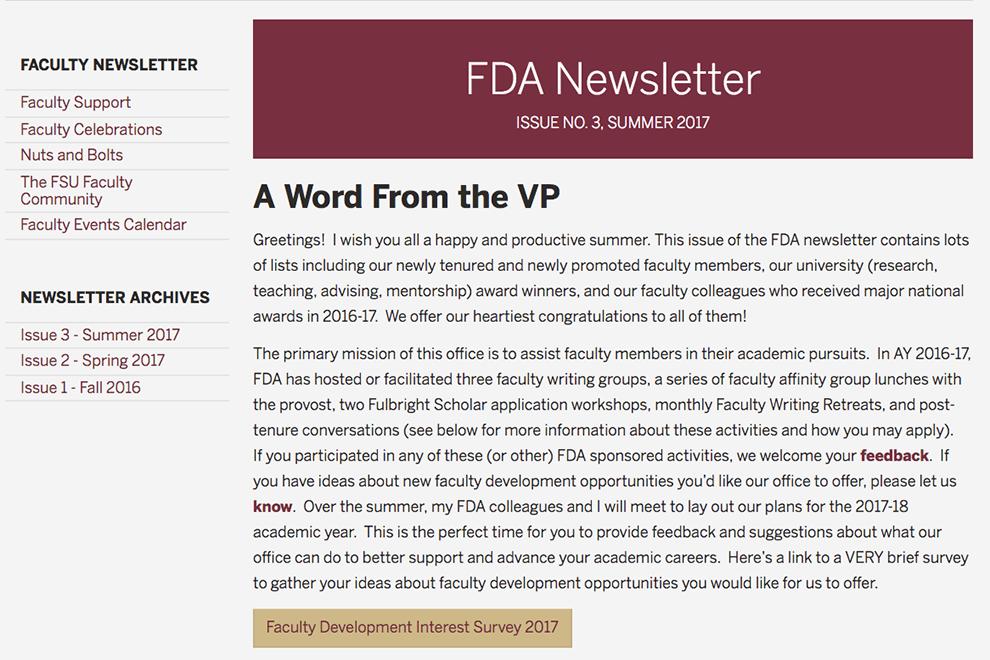 FDA Newsletter